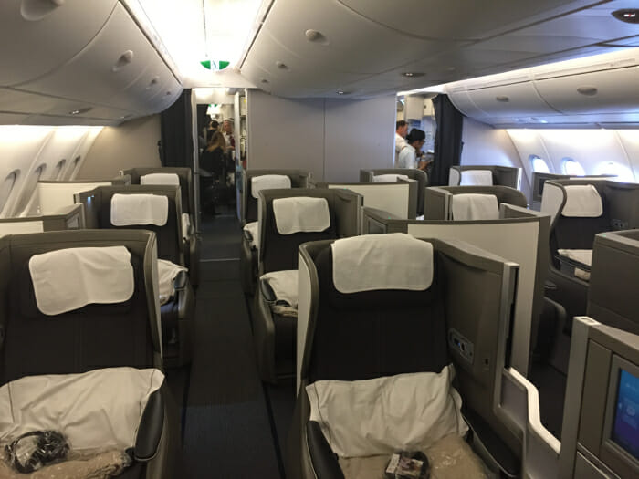 british airways new a350 business class seat not good