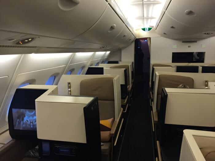 Etihad Business Class A380
