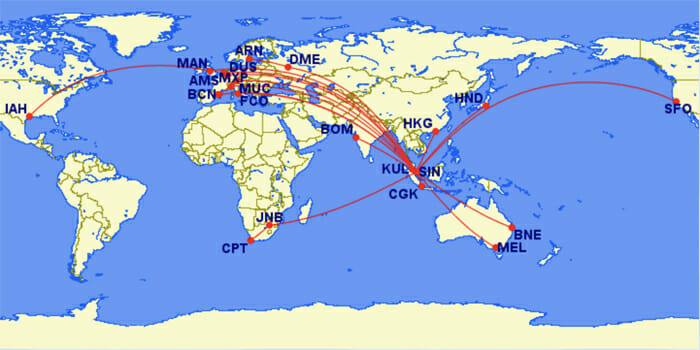 Singapore Airlines A350 Routes - The Definitive Guide